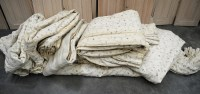 Lot 22 - A quantity of lined curtains of various sizes,...