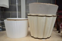 Lot 31 - A collection of six standard lampshades, various.