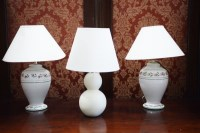 Lot 36 - A pair of modern ceramic table lamps in the...