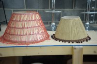 Lot 43 - A large modern standard lamp shade, with...