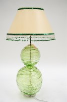 Lot 46 - William Yeoward: a large green tinted glass...
