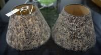Lot 47 - A pair of circular tapering lamp shades...
