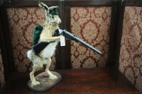 Lot 66 - An amusing taxidermy hare dressed in a...