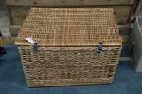 Lot 72 - A modern rectangular wicker basket, with...