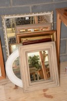 Lot 73 - A collection of seven wall mirrors, various.