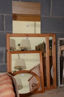 Lot 74 - A pair of rectangular wall mirrors in modern...