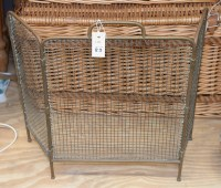 Lot 83 - A late 19th Century brass framed wire spark...