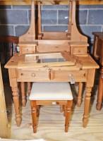 Lot 87 - A modern pine dressing table, rectangular...