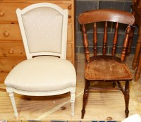 Lot 88 - A restored Regency style dining chair, with...