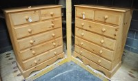 Lot 89 - A pair of modern pine Victorian style chests...