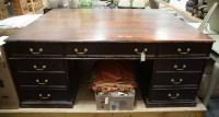 Lot 90 - A large 19th Century mahogany partners desk,...