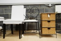 Lot 93 - A pair of modern wrought iron occasional...