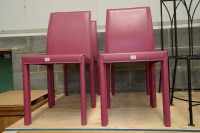 Lot 101 - A set of four modern Italian dining chairs,...