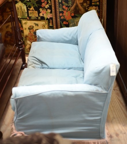 Lot 252-A Howard & Sons two-seater sofa upholstered in...