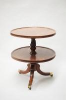 Lot 318-A late George III circular mahogany two-tier dumb ...