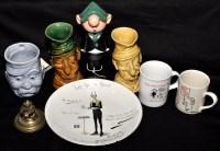 Lot 312-A Staffordshire China character mug ''Old Bill'', ...