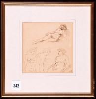 Lot 342 - Edward Ardizzone, RA - female nude studies,...