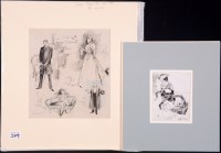 Lot 349 - Leonard Raven-Hill - studies of actors - Count...
