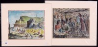Lot 352 - J*** Meade - holidaymakers on a beach, and the...