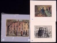 Lot 354 - J*** Meade - ''Street Scene'', watercolour, 26...