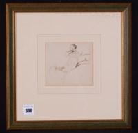 Lot 366 - Charles Samuel Keene - double portrait - a...