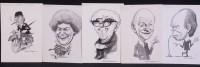 Lot 380 - Glan Williams - portraits of Nigel Lawson,...