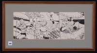 Lot 396 - Arthur Ferrier - a three-panel cartoon strip...