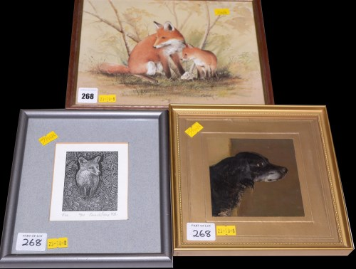 Lot 268-Edward Stamp - ''Fox'', signed and dated 1983,...