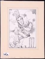 Lot 319A - Chris Riddell - a caricature of John Redwood...