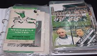 Lot 51 - Newcastle United home and away programmes from...