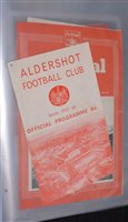 Lot 55 - English League football programmes from a...