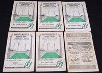 Lot 42 - Newcastle United home football programmes,...