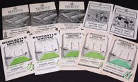 Lot 43 - Newcastle United home programmes, comprising;...