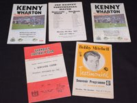 Lot 45 - Testamonial match programmes, to include Bobby...