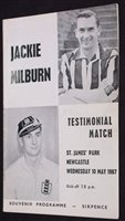 Lot 46 - Jackie Milburn Testimonial football programme...