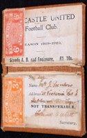 Lot 101 - A rare Newcastle United football club season...