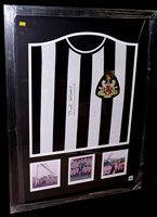 Lot 86 - A Fairs' Cup Newcastle United replica shirt...