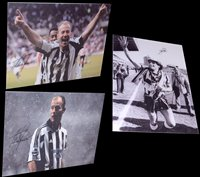 Lot 93 - Three printed canvases two of Alan Shearer and...
