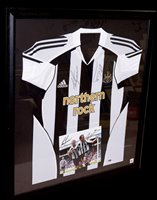 Lot 92 - A Newcastle United replica shirt signed by...