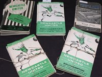 Lot 74 - Newcastle United home football programmes from...