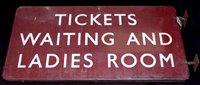 Lot 184-Midland railways enamel sign inscribed...