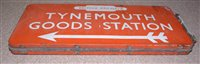 Lot 183-British railways North Eastern region enamel...