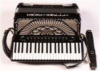 Lot 18 - Crucianelli master series piano accordion with...