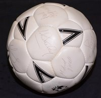 Lot 71 - A Mitre football bearing approximately fifteen...