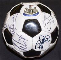 Lot 70 - A Newcastle United football bearing...