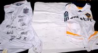 Lot 96 - England 2006 replica shirt with full squad of...
