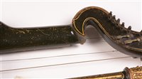 Lot 8-19th Century harp lute to a design by Edward...