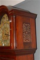 Lot 685-Reid & Sons: a mahogany longcase clock.