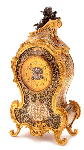 Lot 922-Japy Freres mantel clock.