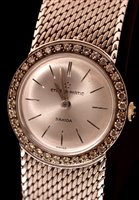 680 - A lady's 18ct. white gold bracelet watch.